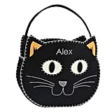 Glow in the Dark Kitty Glitter Felt Treat Bag