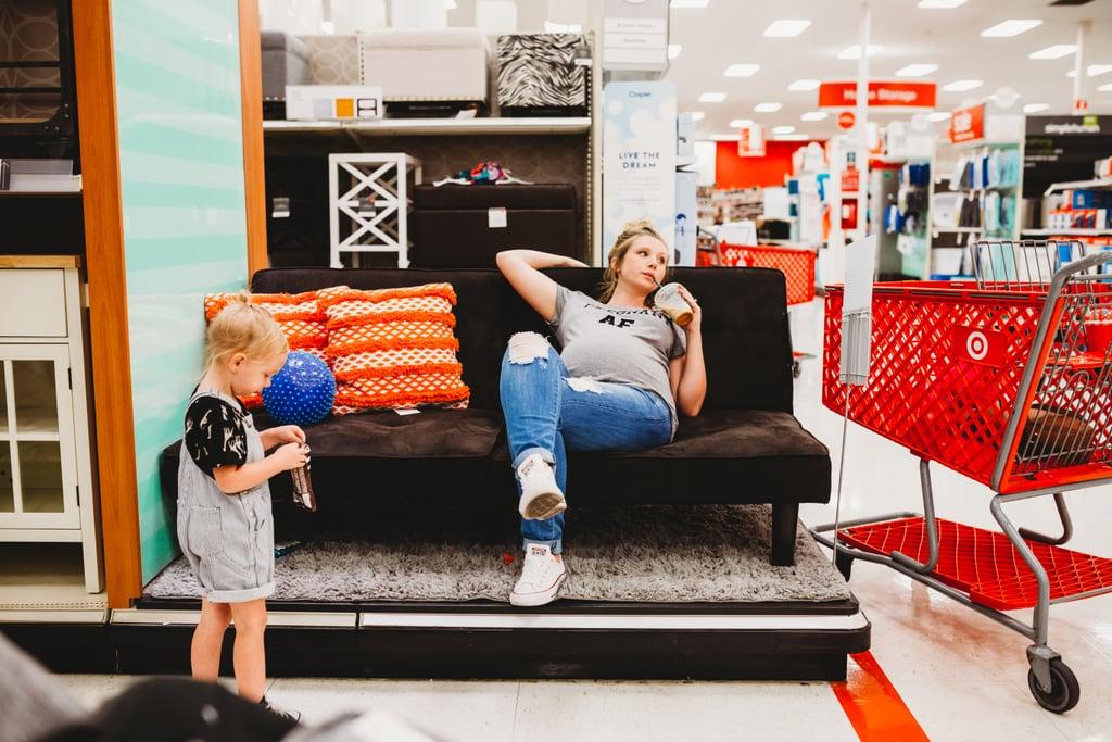 Rainbow Baby Pregnancy Photo Shoot at Target