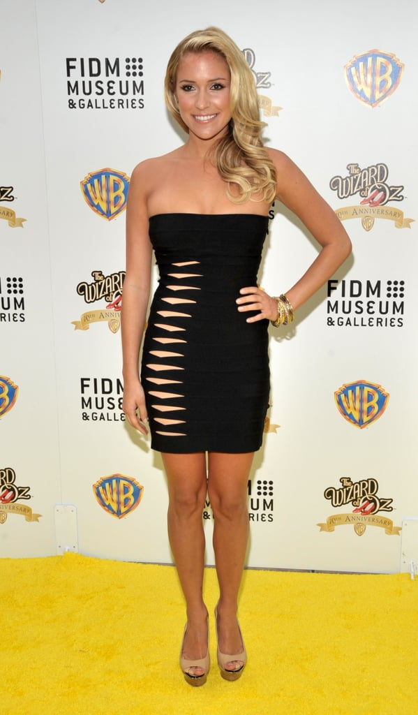 Kristin Cavallari proved the dress could get even smaller with cutouts.