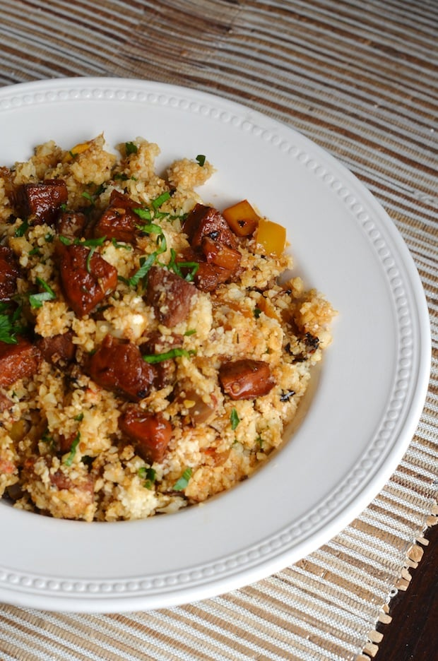 Cauliflower Dirty Rice With Andouille Sausage