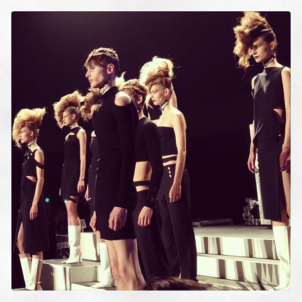 All-black ensembles have never looked so fierce.