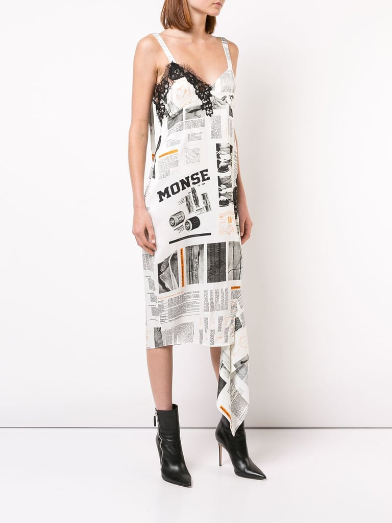 Monse Printed Slip Dress