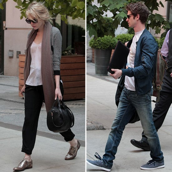 Emma Stone and Andrew Garfield Kick Off Their Week in NYC