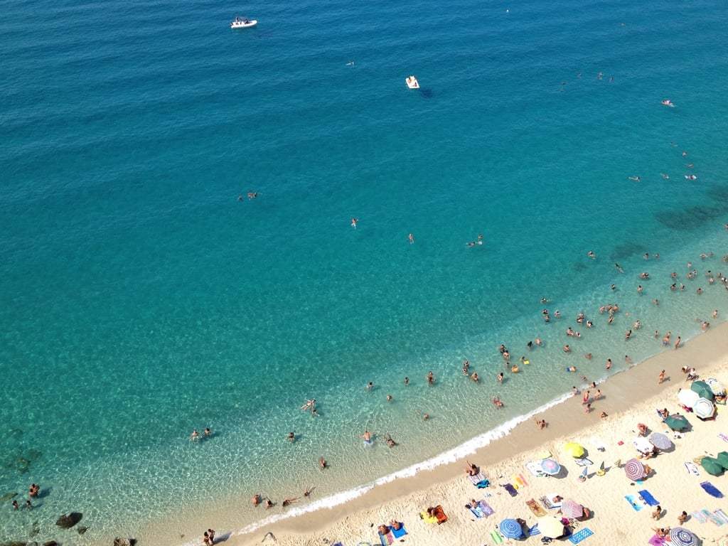 Lay out in the beaches of Tropea, Calabria, at the toe of Italy's boot.
