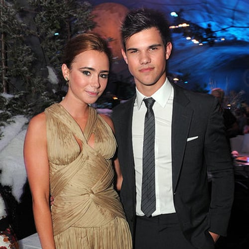 when did taylor lautner and lily collins start dating