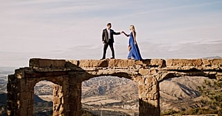 From an Old Castle to a Foggy Beach — This Engagement Shoot Is Downright Stunning