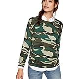 J. Crew Mercantile Women's Camo Crewneck Sweater