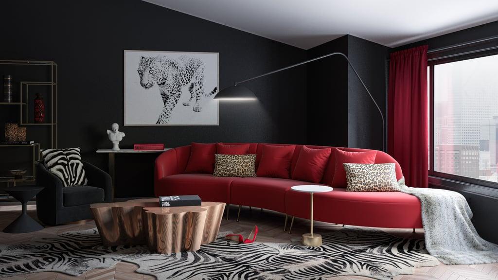 Cruella de Vil From 101 Dalmatians' Living Room