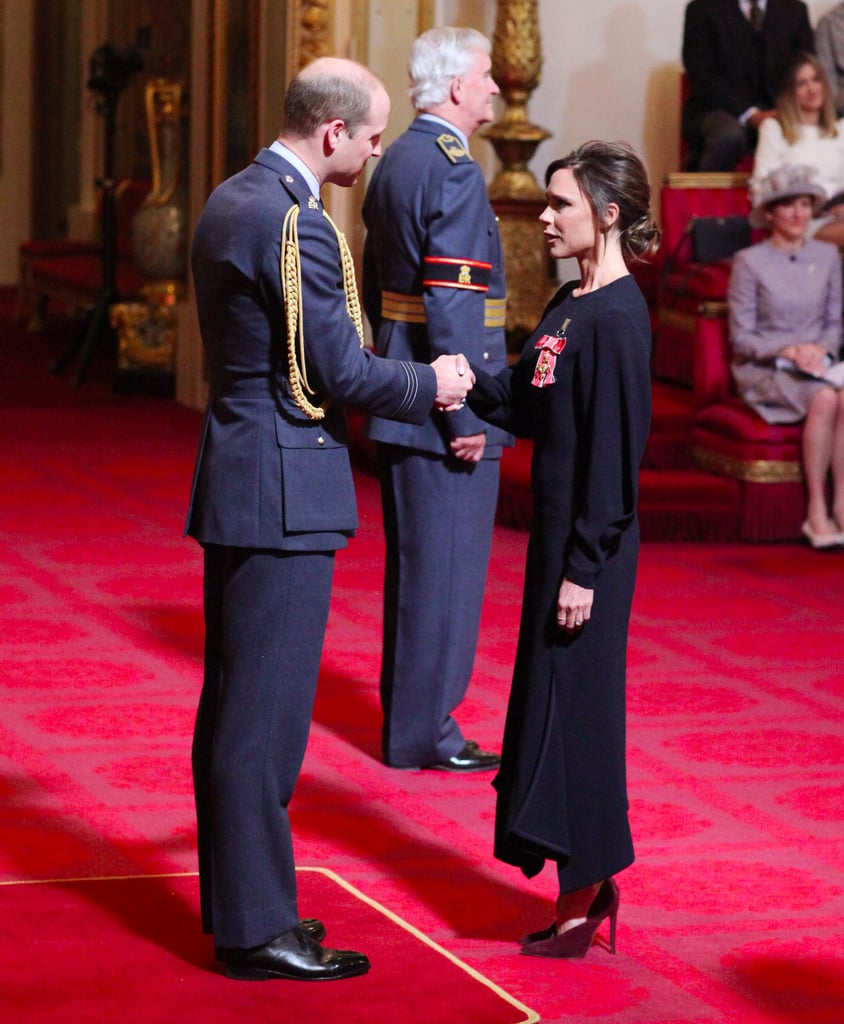 You Might Never Guess What Victoria Beckham Wore to Receive Her OBE