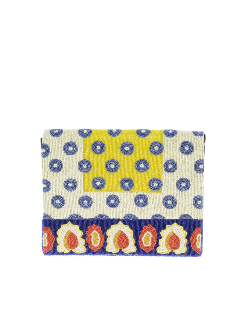 Rest assured you'll have the most unique and covetable of clutches with this beaded version.  Asos Leather Beaded Tile Effect Clutch ($70)