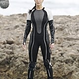 Jennifer Lawrence wore a wet suit to film scenes for Catching Fire.