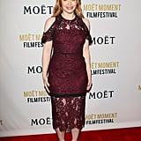 Bryce Dallas Howard wore an off-the-rack lace dress by Alexis for the Globes party hosted by Moët & Chandon.