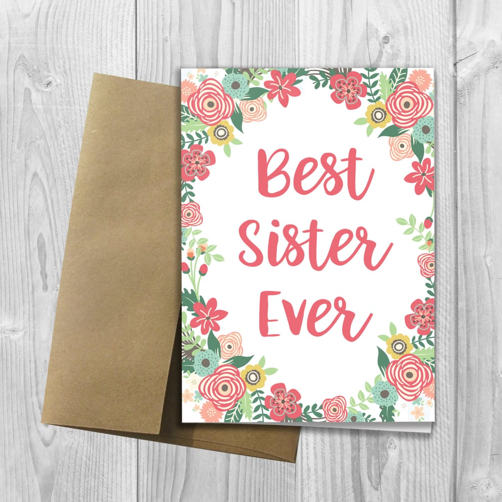 Best sister ever mothers day card happy mothers day sister best sister ever mothers day card m4hsunfo