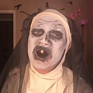 The Nun Funny Makeup Tutorial