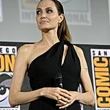 Angelia Jolie Wears Black Dress to San Diego Comic-Con 2019