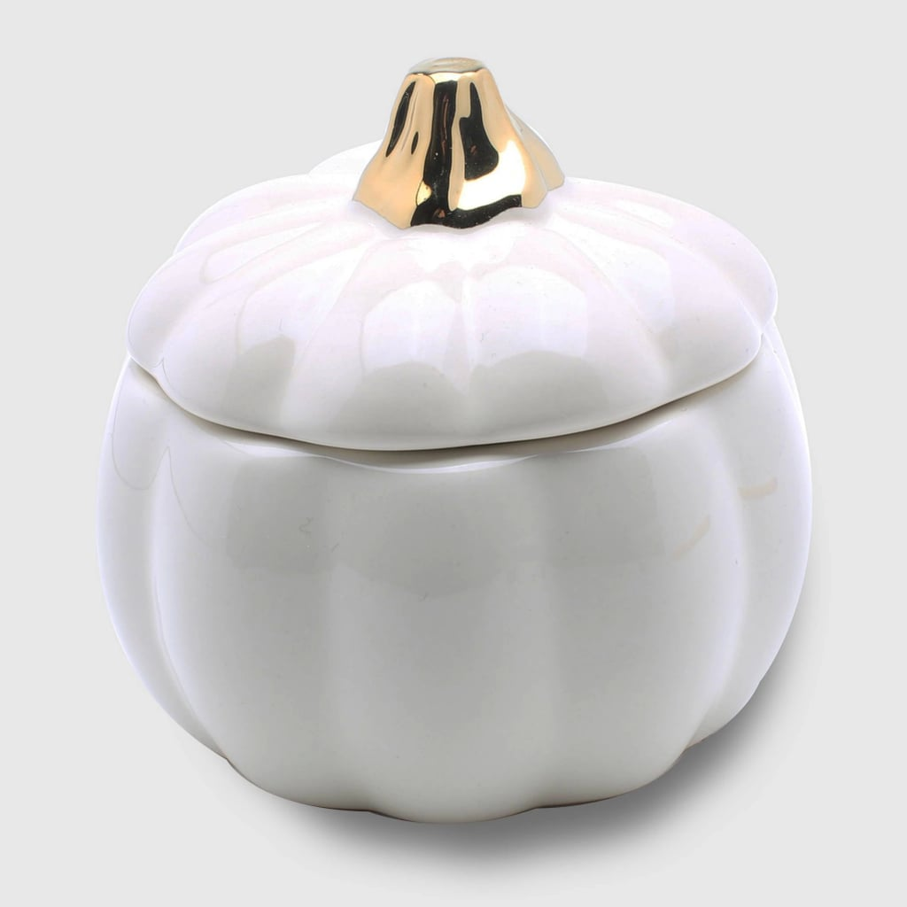 Maple Creme Ceramic Pumpkin Jar Candle