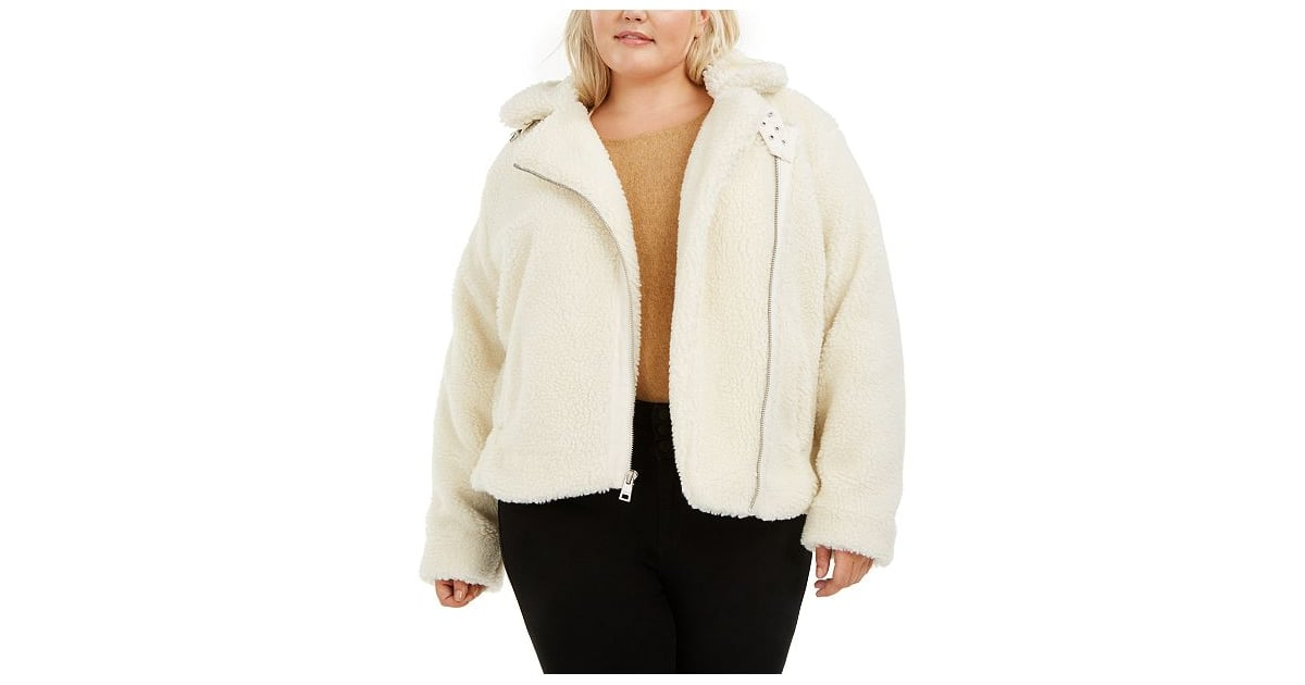 Filled Short Jacket With Asymmetric Zip