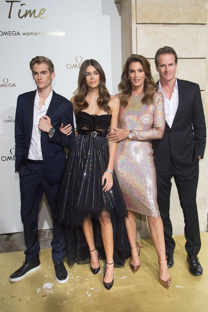 Cindy Crawford and Kaia Gerber Wearing Sparkly Cocktail Dresses in 2017