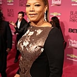 Queen Latifah opted for her signature slicked-back ponytail . . . with a touch of volume, of course.