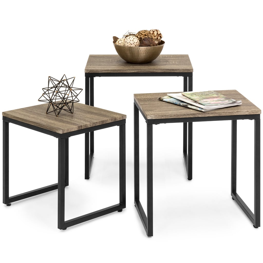 Best Choice Products 3-Piece Lightweight Stackable Nesting Tables