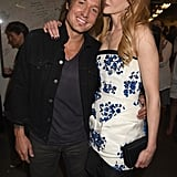 Nicole Kidman stayed close to her husband, Keith Urban, backstage at the CMT Awards in Nashville on Wednesday.