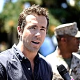 Pictures of Ryan Reynolds at a Special Green Lantern Screening For the Troops