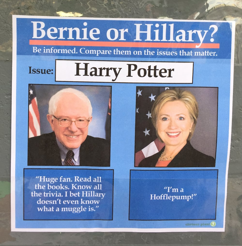 Harry Potter From Obvious Plant bernie sanders vs hillary clinton memes popsugar news
