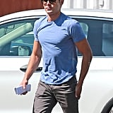 Zac Efron wore the perfect fitted shirt on the set of his new movie We Are Your Friends in LA on Friday.
