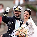 Prince Carl Philip and Sofia couldn't contain their excitement after tying the knot on June 13, 2015 at the Royal Chapel in Stockholm, Sweden.