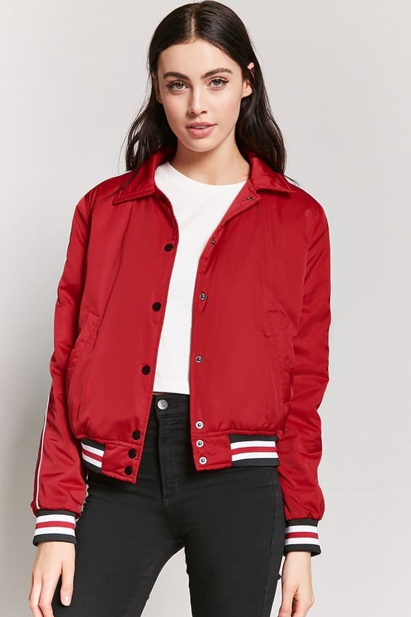 Forever 21 Varsity Stripe Jacket | Forever 21 Winter Clothes