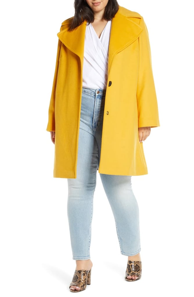 Sam Edelman Oversize Lapel Wool Blend Coat