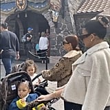 Kylie Jenner Walking With Stormi Webster Through Walt Disney World