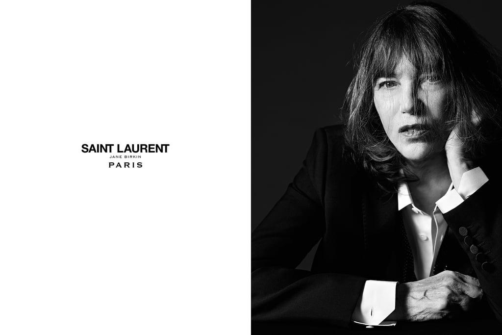 Jane Birkin in Saint Laurent Campaign Spring 2016