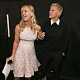 Kaley Cuoco and Ellen DeGeneres