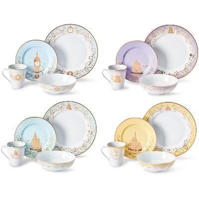 Disney Themed 16 Piece Ceramic Dinnerware Set