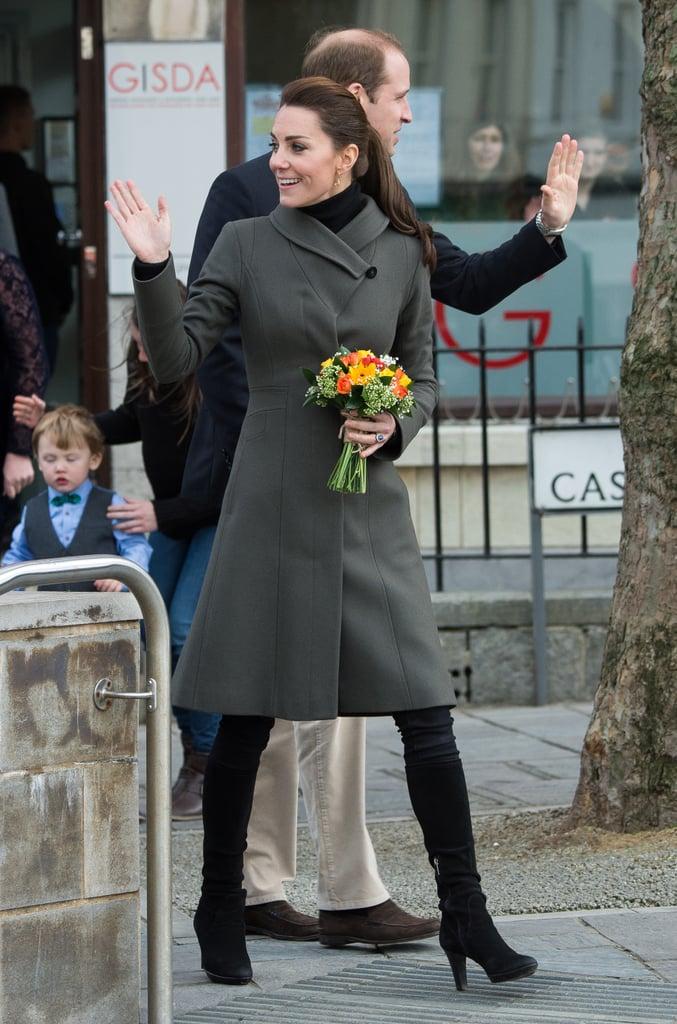 Kate Middleton in Caernarfon, Wales in 2015