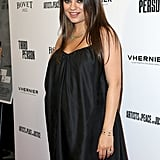 Mila Kunis dressed her baby bump in a little black dress at her Third Person premiere in LA on Monday.