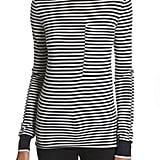 Joseph Stripe Wool Turtleneck Sweater
