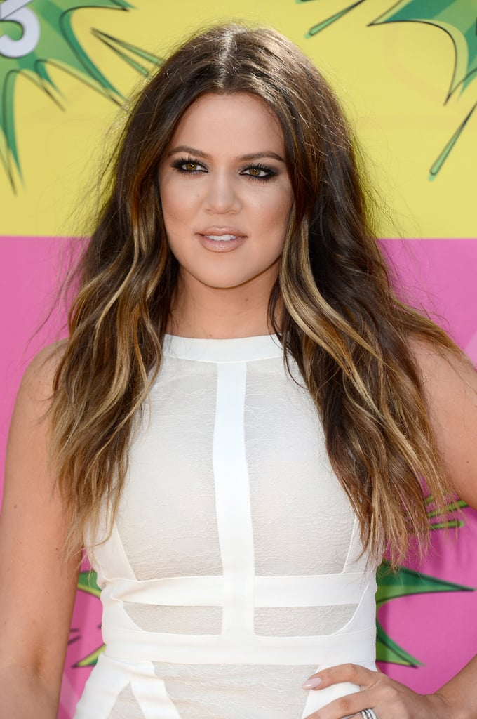 Of all the looks on the Kids' Choice Awards purple carpet, Khloé Kardashian's beachy waves were your top pick.