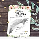 Name That Song Baby Shower Game