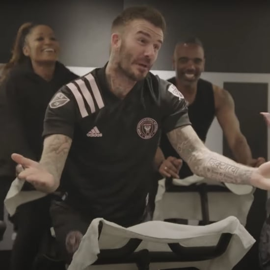 Watch James Corden and David Beckham Do a Workout Together