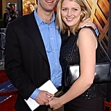 Here's Michel with his winner, Amanda Marsh, at the premiere of Spider-Man. Yes, the first Spider-Man. That's how long ago this was. Sad news: they only lasted a few months.