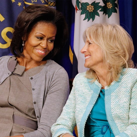 Jill Biden Gifts Michelle Obama a Produce Basket