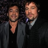 Javier Bardem and Brad Pitt palled around backstage during the 2008 show.