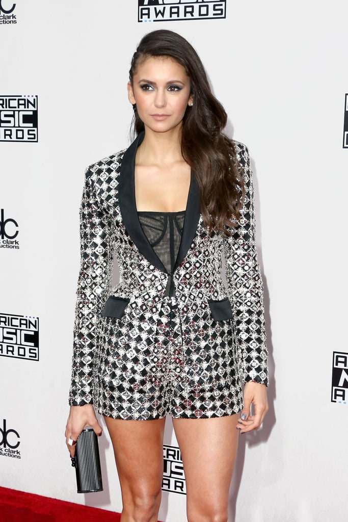 Nina Dobrev Braids Hair American Music Award 2016
