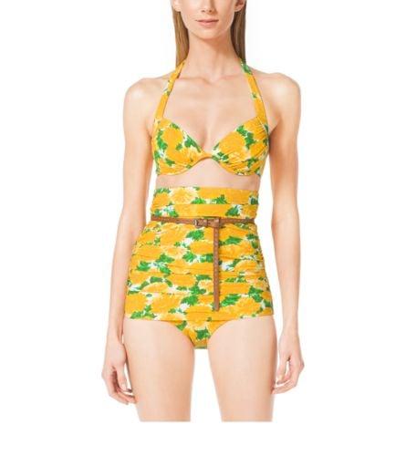 Michael Kors Dahlia-Print Bikini ($396)