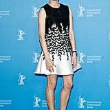 We love the interplay of black and white on Diane Kruger's flirty a-line dress that she wore to The Better Angels photocall in Berlin.