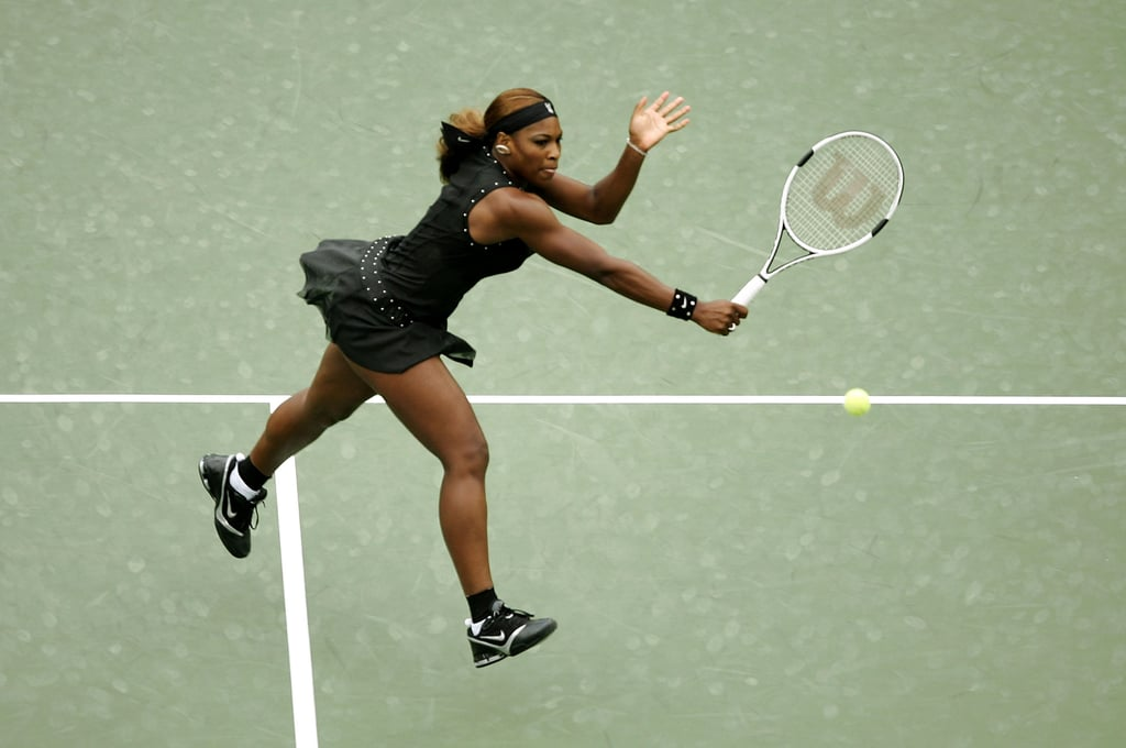 Serena Williams Completed the Look With a Matching Sweatband and Wristband