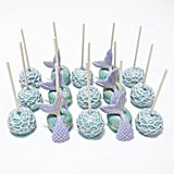 Mermaid Tail Cake Pops With Gold Accents
