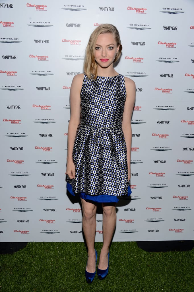 Amanda Seyfried wore Resort 2013 Dior at the Vanity Fair celebration of Les Misérables in Los Angeles.